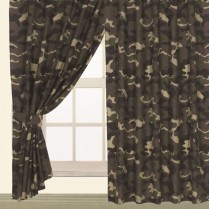 Children's Kids Pair of CAMOUFLAFE DESIGN CURTAINS With Matching Tie Backs By Viceroybedding