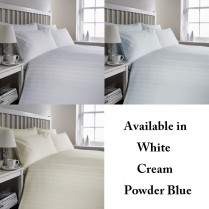 300 Thread Count Egyptian Cotton Triple Stripe Design Duvet Cover and Pillowcases Set