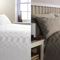300 Thread Count Egyptian Cotton Geo Design Duvet Cover and Pillowcases Set