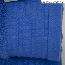Pack of 2 Royal Blue Egyptian Cotton 650gsm Towel JUMBO Bath Sheet