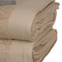 Pack of 2 Beige Egyptian Cotton 650gsm Towel JUMBO Bath Sheet