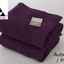 Pack of 2 Aubergine/ Purple Egyptian Cotton 650gsm Towel JUMBO Bath Sheet