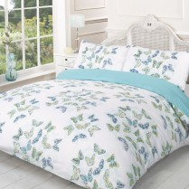 Stephanie BUTTERFLY Summer Reversible Duvet Cover and Pillowcases Set