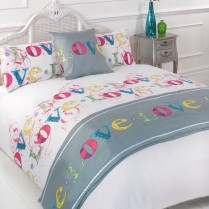 5pc Love Lovely Multi Design Bed in a Bag Bedding DUVET QUILT COVER SET + CUSHION COVER + BED RUNNER