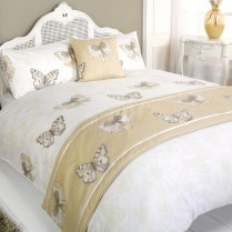 5pc Botanic Gold Design Bed in a Bag Bedding DUVET QUILT COVER SET + CUSHION COVER + BED RUNNER