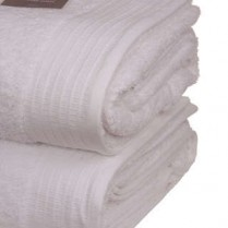 Pack of 2 White Egyptian Cotton 650gsm Towel JUMBO Bath Sheet