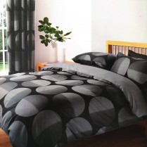 Mirage Black and Grey Printed Bedding Duvet Cover Pillow Case Bed Set