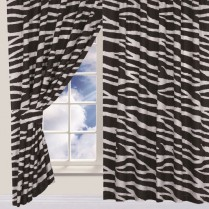 Children's Kids Pair of Zebra DESIGN CURTAINS With Matching Tie Backs By Viceroybedding