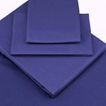 Percale Box Pleated Fitted Valance Sheets in Wedgwood Blue