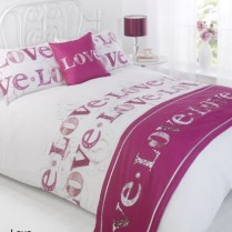 5pc Love Plum Design Bed in a Bag Bedding DUVET QUILT COVER SET + CUSHION COVER + BED RUNNER