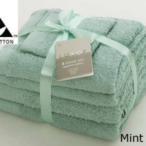 Mint Green 6 Piece 650gsm Egyptian Cotton Towel Bale